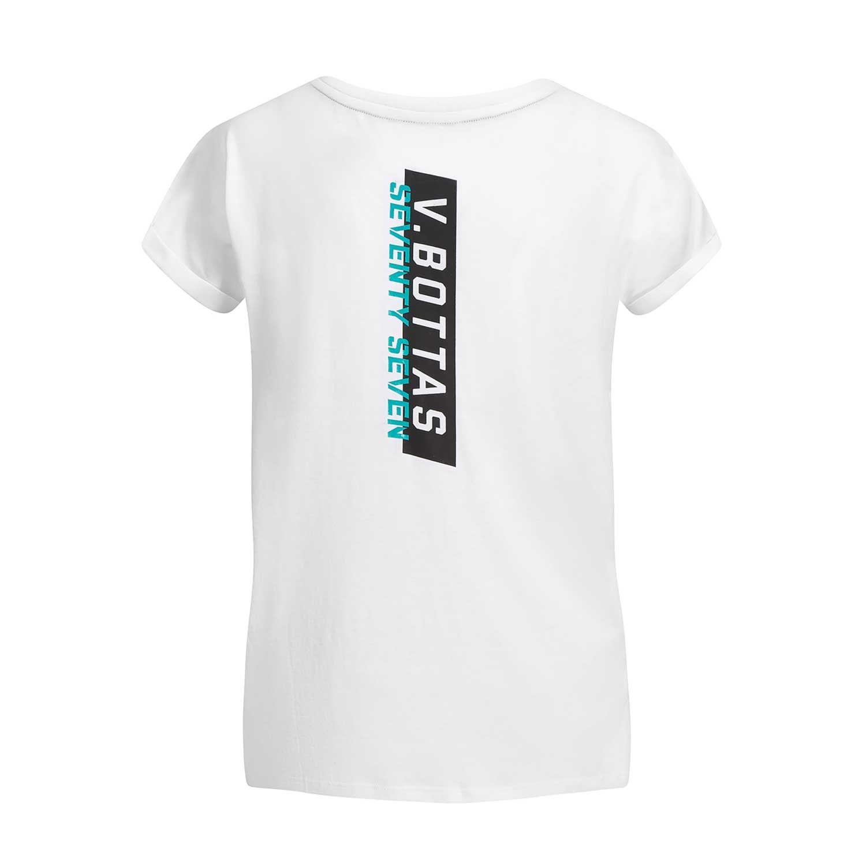 c7ff1e80f Koszulka damska t-shirt biała Bottas 77 Mercedes AMG Petronas Motorsport F1  2019 ...