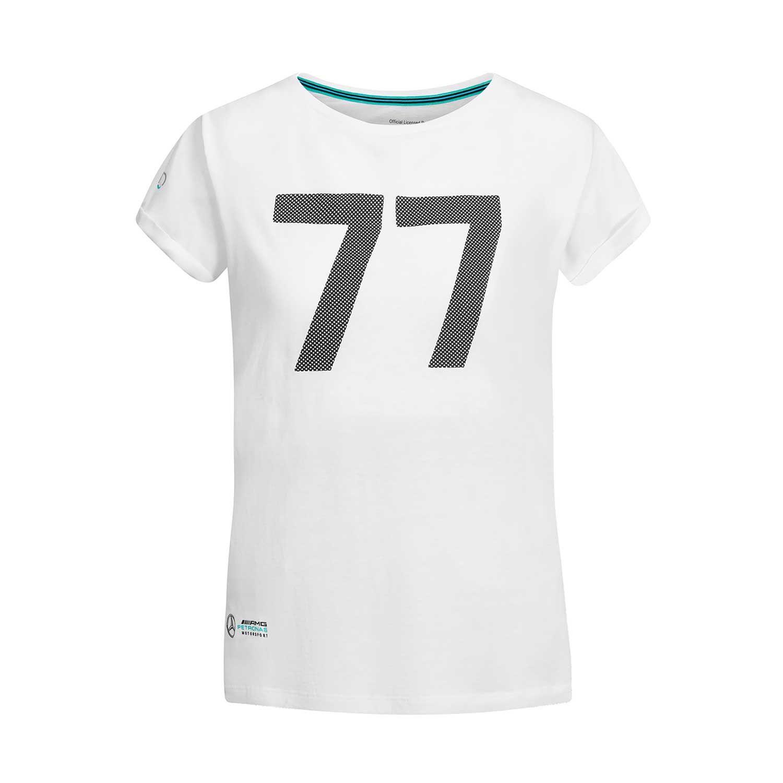 6c7d574b6 ... Koszulka damska t-shirt biała Bottas 77 Mercedes AMG Petronas  Motorsport F1 2019